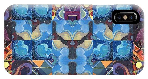 Dark Humor iPhone Case - The Joy Of Design Mandala Series Puzzle 6 Arrangement 6 by Helena Tiainen