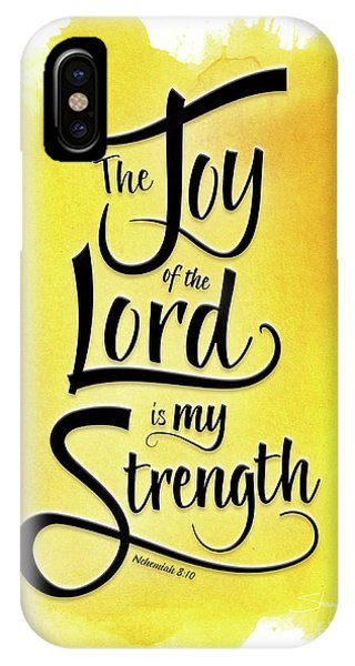 The Joy Of The Lord - Yellow IPhone Case