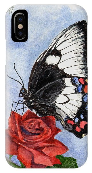 IPhone Case featuring the painting The Keeper Of The Rose by Sam Sidders