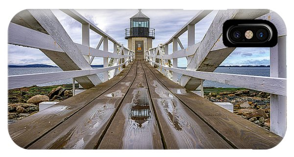 Navigation iPhone Case - The Keeper's Walkway At Marshall Point In Color by Rick Berk