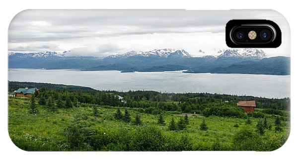 IPhone Case featuring the photograph The Kenai Mountains In Homer by Margaret Pitcher