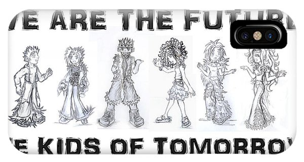 IPhone Case featuring the drawing The Kids Of Tomorrow 1 by Shawn Dall