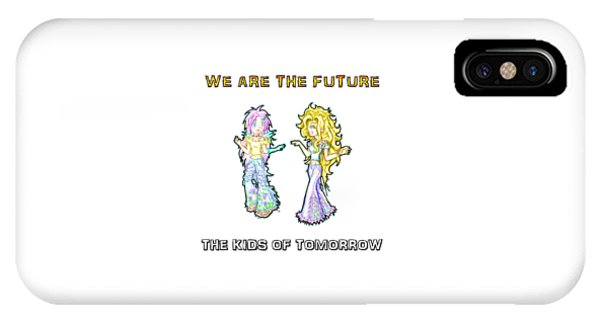 IPhone Case featuring the painting The Kids Of Tomorrow Ariel And Darla by Shawn Dall