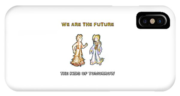 IPhone Case featuring the digital art The Kids Of Tomorrow Corie And Albert by Shawn Dall