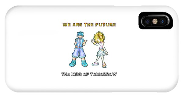 IPhone Case featuring the digital art The Kids Of Tomorrow Toby And Daphne by Shawn Dall