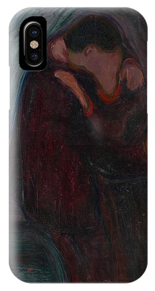 20th Century Man iPhone Case - The Kiss by Edvard Munch