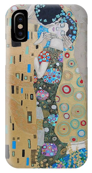 Samantha iPhone Case - The Kiss by Samantha Black