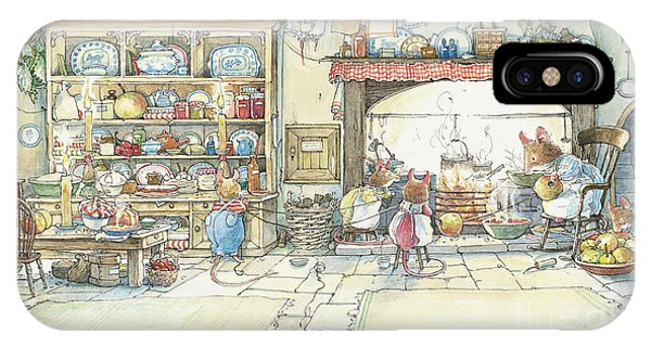 Mouse iPhone Case - The Kitchen At Crabapple Cottage by Brambly Hedge