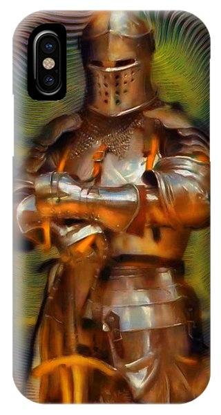 Fashion Plate iPhone Case - The Knight In Shining Armor by Mario Carini