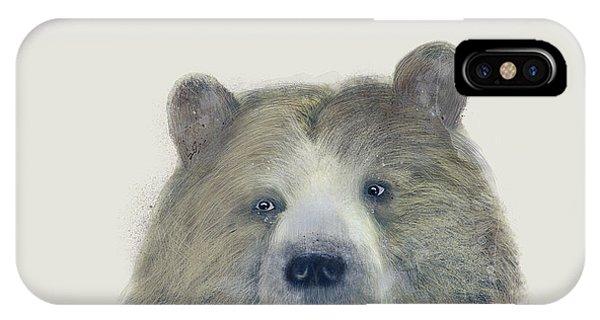 Brown iPhone Case - The Kodiak Bear by Bri Buckley