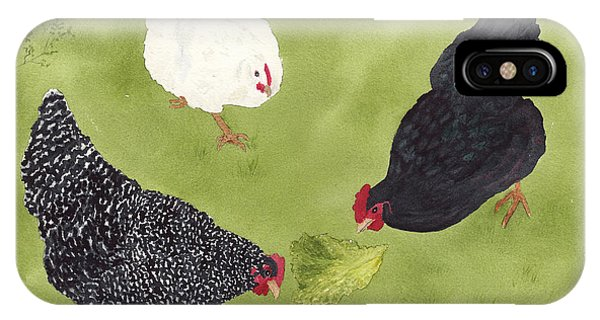 The Ladies Love Salad Three Hens With Lettuce IPhone Case