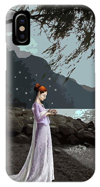 The Lady And The Kitty IPhone Case