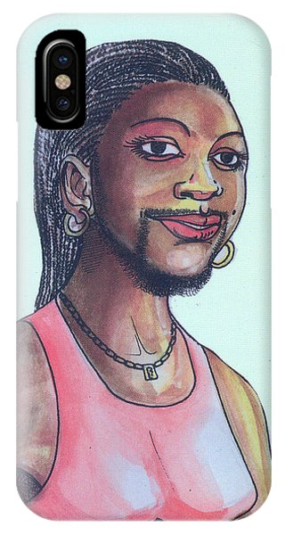 The Lady With A Beard IPhone Case