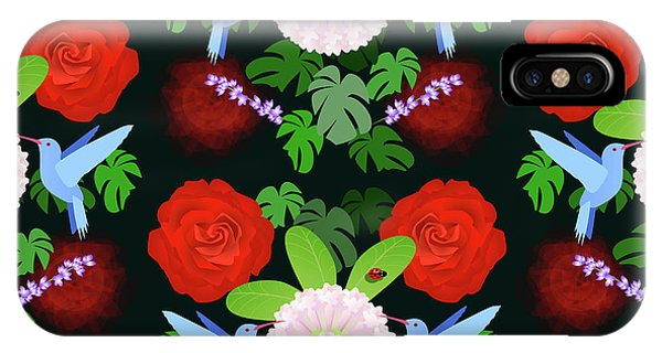 Repeat iPhone Case - The Ladybird And The Hummingbird by Claire Huntley