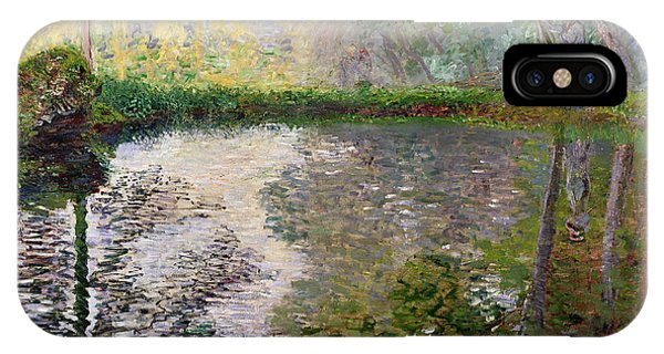 Impressionism iPhone X Case - The Lake At Montgeron by Claude Monet