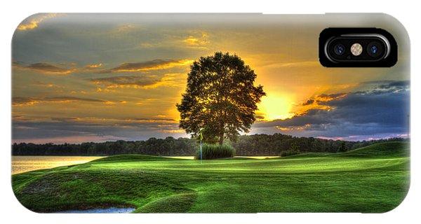 The Landing Golf Course Reynolds Plantation Landscape Art IPhone Case