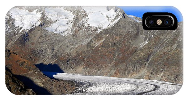 The Large Aletsch Glacier In Switzerland IPhone Case