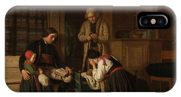 Swedish Painters iPhone Case - The Last Bed Of The Little One by Amalia Lindegren