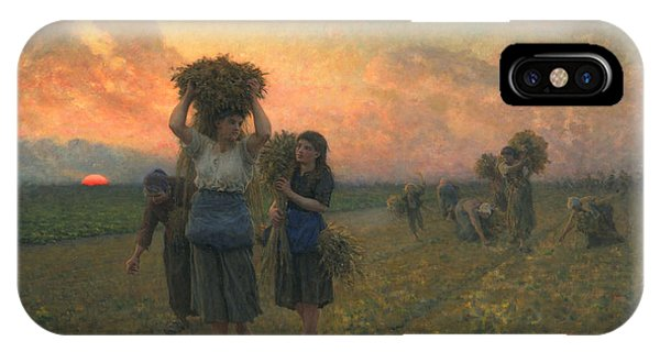 Poverty iPhone Case - The Last Gleanings by Jules Breton