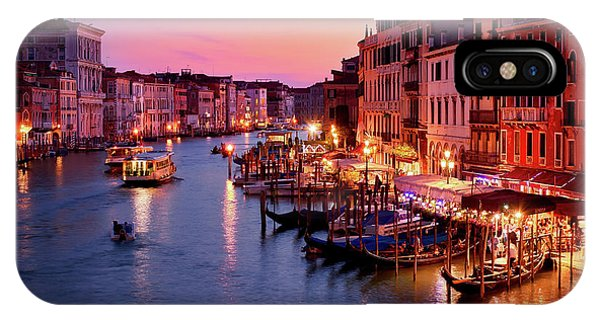 The Blue Hour From The Rialto Bridge In Venice, Italy IPhone Case