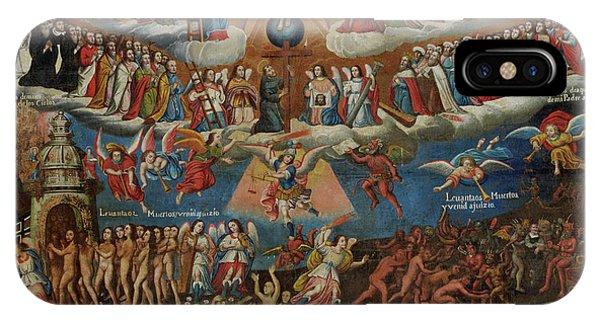 Peru iPhone Case - The Last Judgement, Cuzco School, Late 17th Century by Diego Quispe Tito
