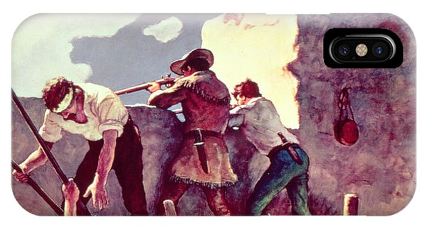 The Alamo iPhone Case - The Last Stand At The Alamo by Newell Convers Wyeth