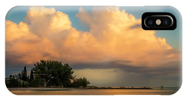 Oceanfront iPhone Case - The Last Summer Storm by Marvin Spates
