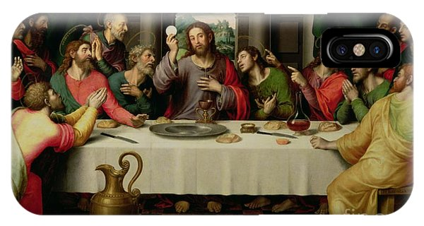 Christianity iPhone Case - The Last Supper by Vicente Juan Macip