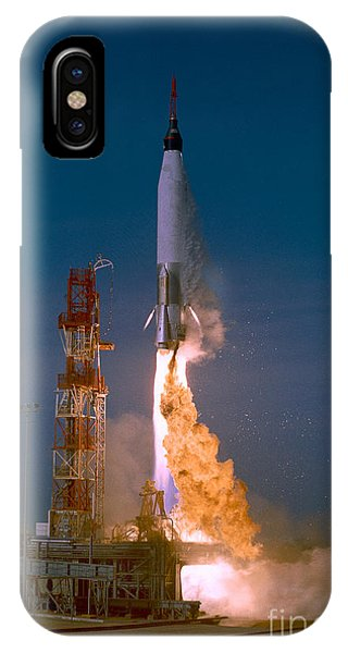 Liftoff iPhone Case - The Launch Of The Mercury Atlas by Stocktrek Images