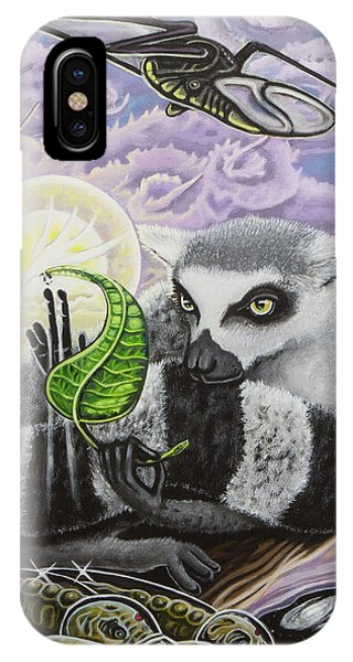 Ring-tailed Lemur iPhone Case - The Leaf Of Truth by Justin Miller