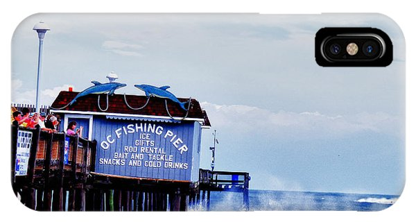 IPhone Case featuring the photograph The Leaning Pier by Kelly Reber