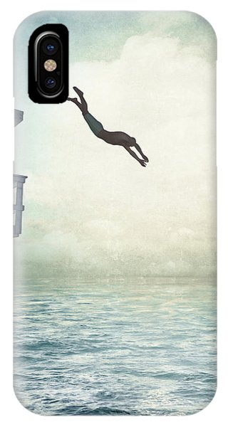 Dive iPhone Case - The Leap by Cynthia Decker