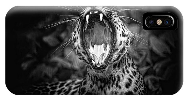The  Leopard's Tongue Rolling Roar IPhone Case