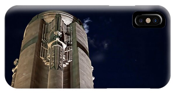 The Liberty Memorial At Night IPhone Case
