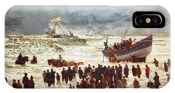 Boats iPhone Case - The Lifeboat by William Lionel Wyllie