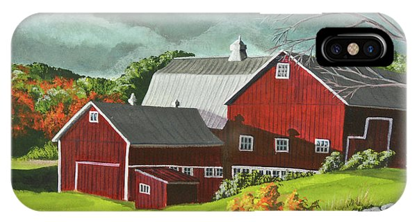 New England Barn iPhone Case - The Light After The Storm by Charlotte Blanchard