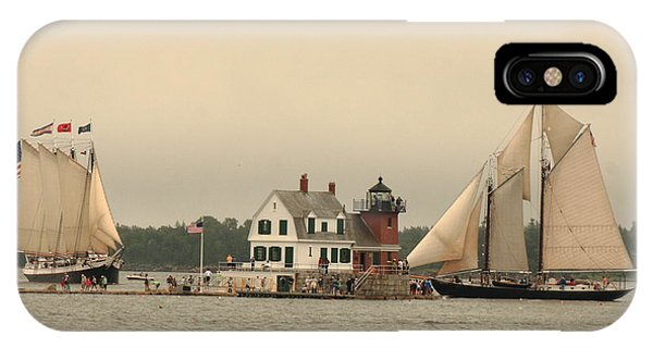 The Lighthouse At Rockland IPhone Case