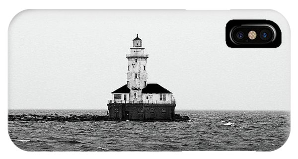 The Lighthouse Black And White IPhone Case