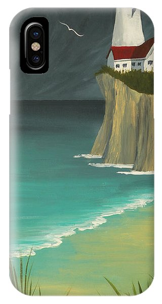 The Lighthouse On The Cliff IPhone Case