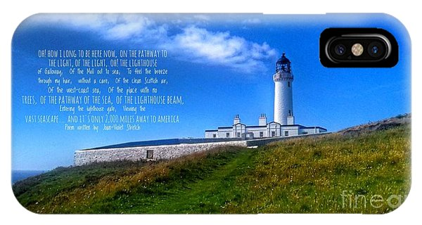 The Lighthouse On The Mull With Poem IPhone Case