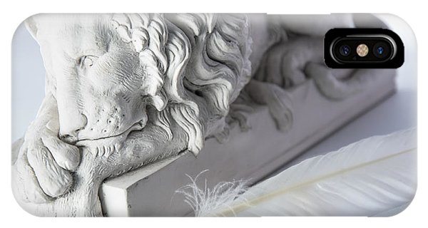 The Lion And The Feather IPhone Case