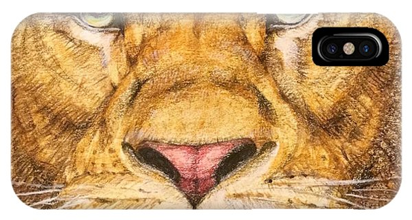 Detail iPhone Case - The Lion Roar Of Freedom by Kent Chua