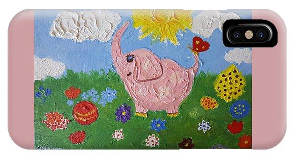 Little Pink Elephant IPhone Case