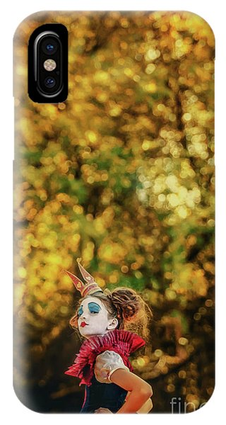 IPhone Case featuring the photograph The Little Queen Of Hearts Alice In Wonderland by Dimitar Hristov