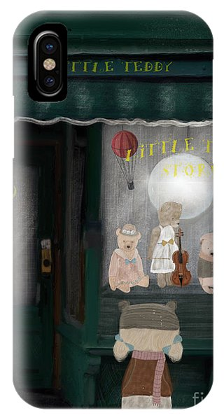 Toy Shop iPhone Case - The Little Teddy Store by Bleu Bri