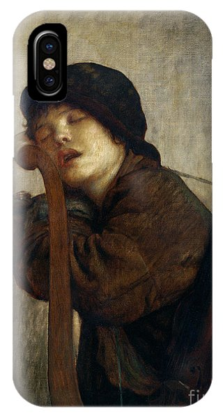 Violin iPhone X Case - The Little Violinist Sleeping by Antoine Auguste Ernest Hebert
