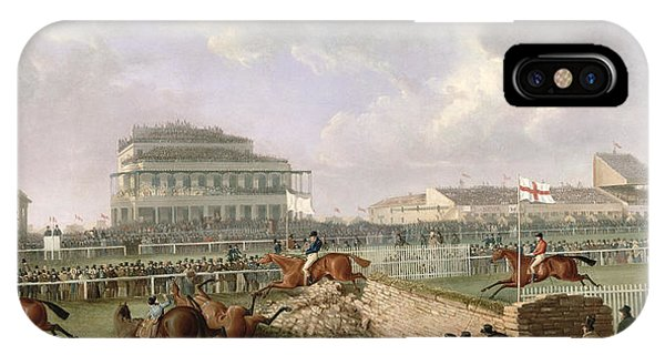 Accident iPhone Case - The Liverpool And National Steeplechase At Aintree by William Tasker