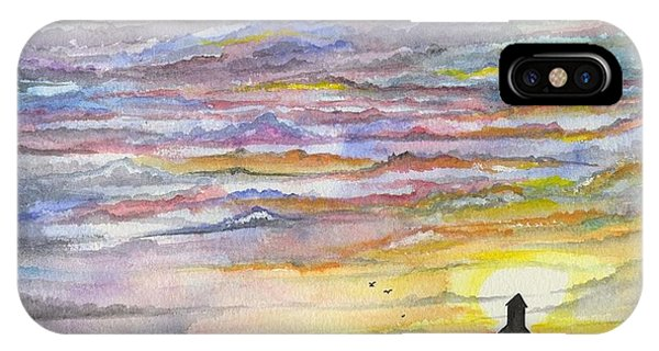 IPhone Case featuring the digital art The Living Sky by Darren Cannell