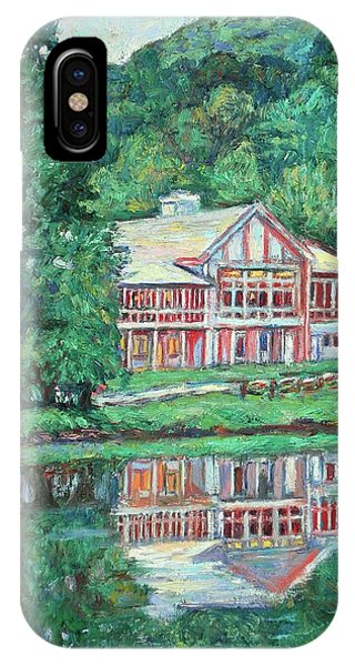 IPhone Case featuring the painting The Lodge At Peaks Of Otter by Kendall Kessler