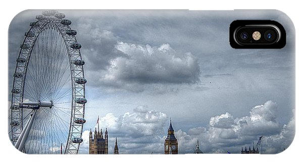 The London Eye And Skyline IPhone Case